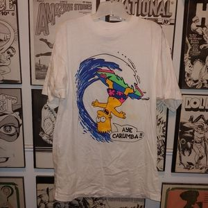 Vintage 90s Bart Simpson Surfing Shirt